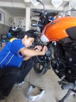 Pasang engine guard Pulsar
