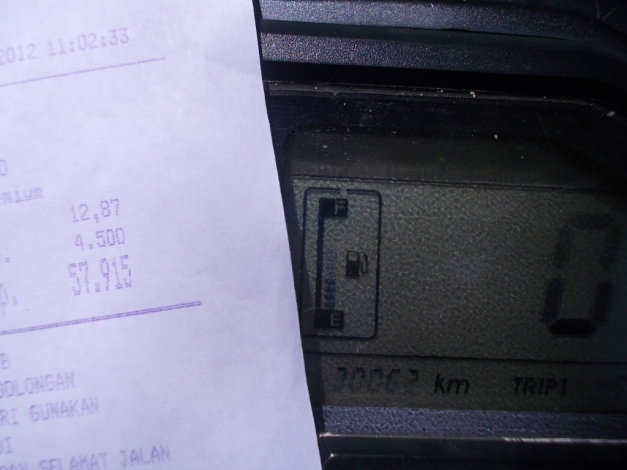 Test konsumsi BBM Pulsar