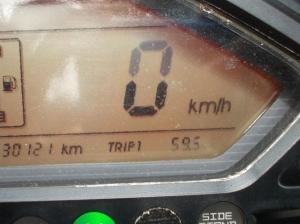 Trip meter 59.5km...