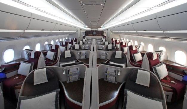 Suasana cabin kelas bisnis... :cool: