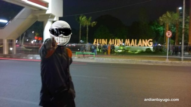 Akhirnya sampai Alun Alun Malang...