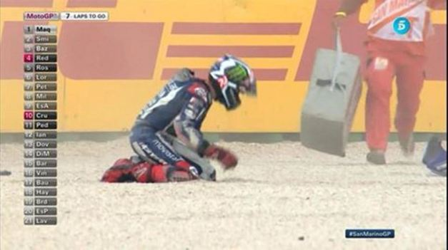 Lorenzo Crash in Misano