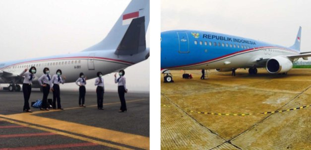 BBJ2 A-001, call sign Indonesia One... :cool: