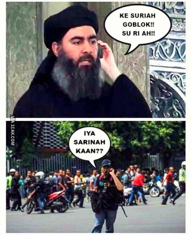 Ternyata terorisnya budek... :lol: