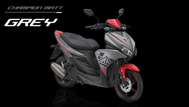 Yamaha Aerox 125 abu abu