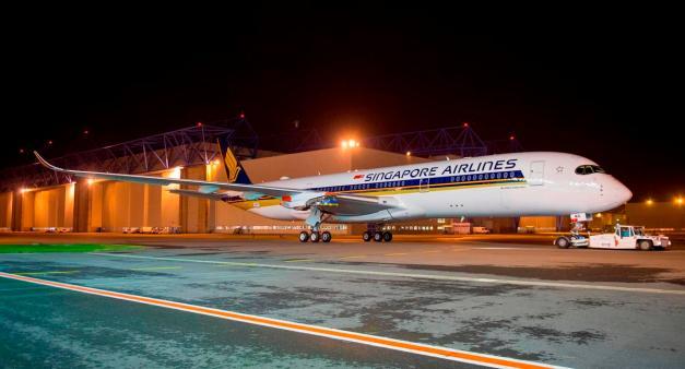 Airbus A350 XWB Singapore Airlines selesai dicat...