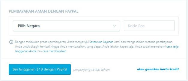 cara membayar domain