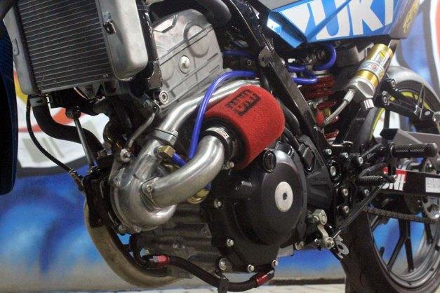 Perangkat turbo di Suzuki Satria Fu Injeksi...